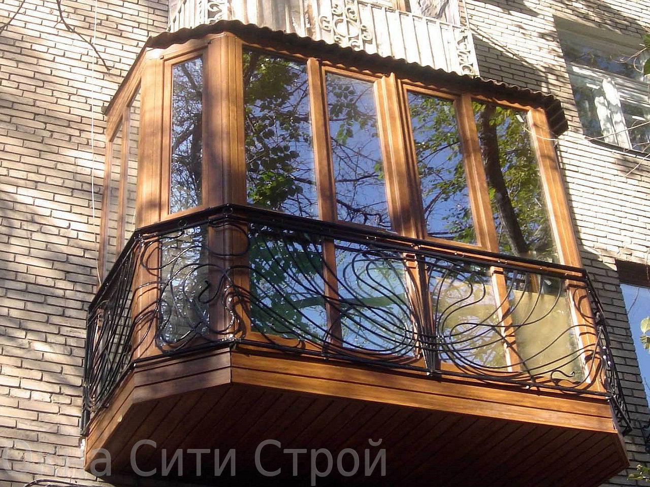Наружный дизайн балкона. - остекление - каталог статей - рем.